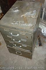 Cabinet of Tools and Hardware, Cabinet Included -A