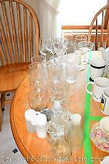 Glasses, Salt and Pepper Shakers A