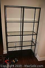 Glass And Metal Shelving Unit C
