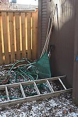 Extension Ladder And Gardening Equipment C