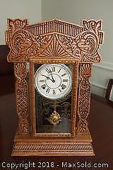 Antique Gingerbread Mantle Clock B
