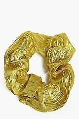 Felicity Gold Metallic Hair Scrunchie