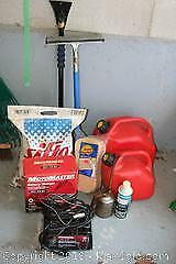 MotoMaster Battery Charger, Gas Cans and Car Accessories