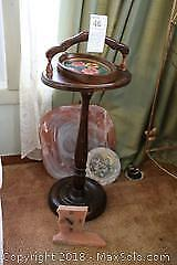 Smoking Stand, Home Decor And Plate. A