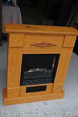 Faux Wood Electric Fireplace Mantle