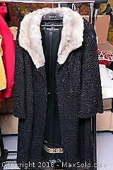 Custom Made Lamb And Mink Collar Fur Coat B
