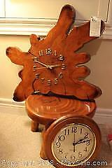 Clock And Stool. A