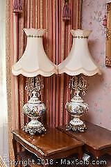 Pair Of Lamps. C