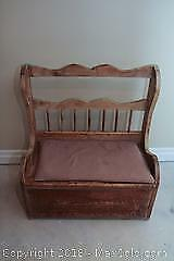 Antique Deacons Bench B