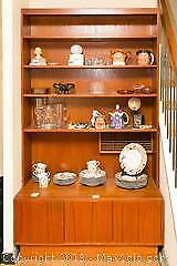 Teak Bookcase With Built-in Cabinet - C