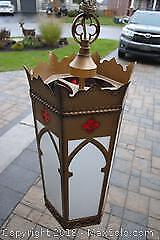 Antique Gothic Cathedral Light Fixture
