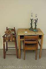 School Desk And Chair And More A