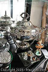 Silver plate Chafing Dish With Warmer A