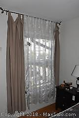 Panel Curtains And Rod. B