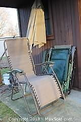 Chairs And Umbrella. A