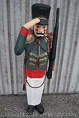 Vintage Holiday Accent Life-Size Toy Soldier