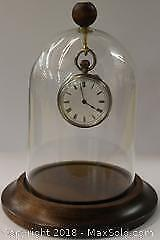 Antique Pocket Watch with Glass Dome Display