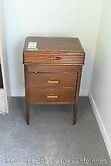 Sewing Cabinet And Contents B