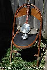 Antique Folding Chair and Barometer