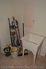 Laundry Sink And Cleaning Products A
