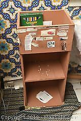 Wooden Cabinet and Contents E