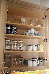 Mugs And Glass Canisters- A