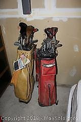 Two Sets Of Golf Clubs B