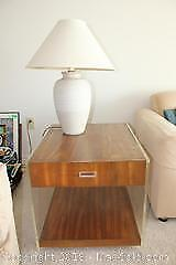 One Drawer Side Table and Decorative table Lamp