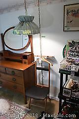 Dressing Chair Butler Valet Stand and Light C