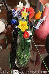 Murano Glass Bouquet In Vase- A