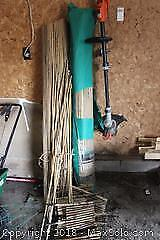 String Trimmer And Bamboo. A