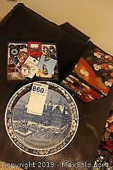 Costume Jewellery and Collectible Plates. A