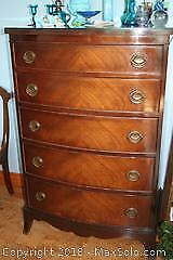 Malcolm 5-Drawer Dresser With Glass Top