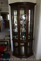 Lighted Display Cabinet. C