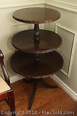 Antique 3 Tiered Table B