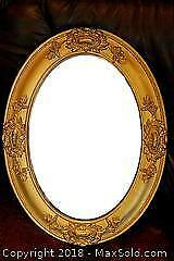 Pair Antique Oval Mirrors