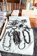 Black Bead Costume Jewellery - A