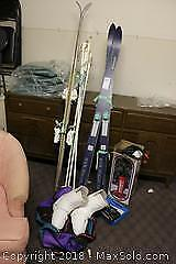 Skis, Poles And Pump. C