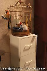 Cabinet And Bird Cage. B