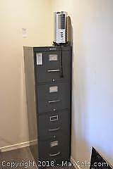 File Cabinet And Fan. A