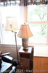 Lamps And Side Table C