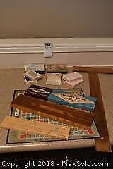 Cards and Cribbage Boards. A