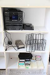 Aiwa Cassette Player And Cassettes