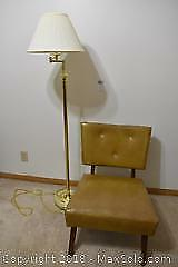 Chair And Floor Lamp. B