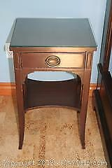 Malcolm Wood Side Table with Drawer