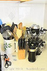 Kitchen Utensils And Spice Rack A