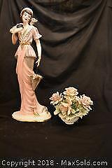 Large Figure And Flowers. A
