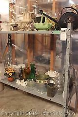 Vases, Planters And Shelf Unit. C