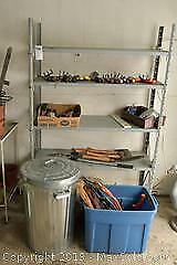 Hand Tools, Can and Shelf. A