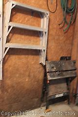 Folding Work Bench And Ladder. A
